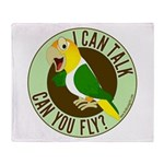ICT,CYF White Bellied Caique Throw Blanket