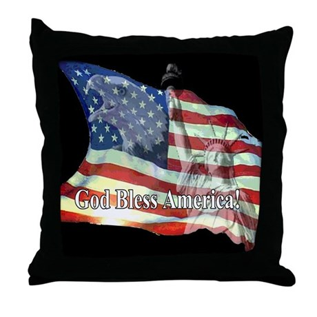 God Bless America! Throw Pillow