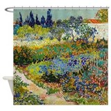 Van Gogh Garden At Arles Shower Curtain