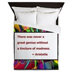 Genius and Madness Queen Duvet