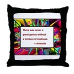 Genius and Madness Throw Pillow