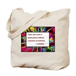 Genius and Madness Tote Bag