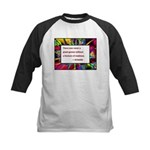 Genius and Madness Kids Baseball Jersey