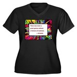 Genius and Madness Women's Plus Size V-Neck Dark T