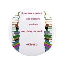 "A Garden and A Library 3.5"" Button (100 pack)"
