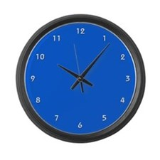 Large Royal Blue Wall Clock with White Numbers