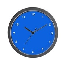 Royal Blue Wall Clock with White Numbers