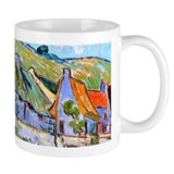 Van Gogh Cottages Mug