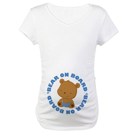 Bear On Board Baby Boy Maternity T-Shirt