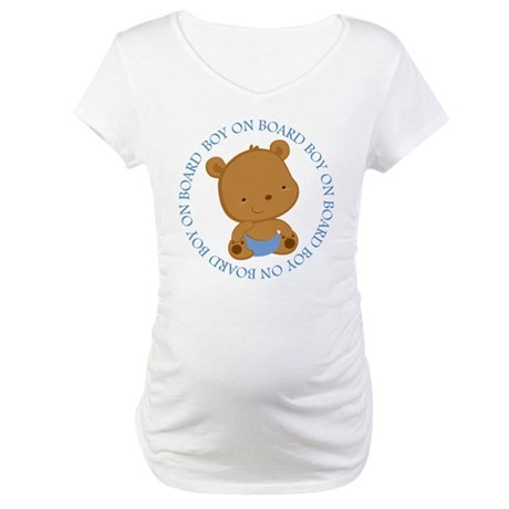 Boy Baby Teddy Bear Maternity T-Shirt