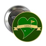 "I Love Golf Heart 2.25"" Button (10 pack)"