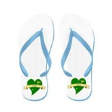 I Love Golf Heart Flip Flops