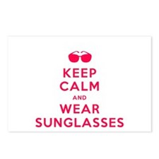Keep Calm and Wear Sunglasses Postcards (Package o