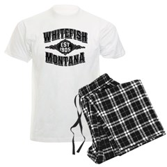 Whitefish 1905 Black & Silver Men's Light Pajamas