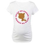 Girl Baby Bear On Board Maternity T-Shirt