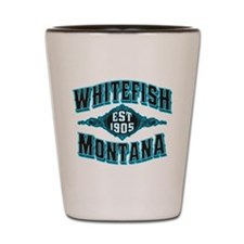 Whitefish 1905 Black Ice Shot Glass