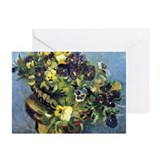 Van Gogh - Pansies Greeting Cards (Pk of 20)