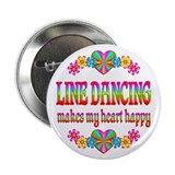 "Line Dancing Happy 2.25"" Button (10 pack)"