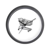 Shopping Cart Wall Clock