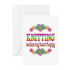 Knitting Happy Greeting Cards (Pk of 20)