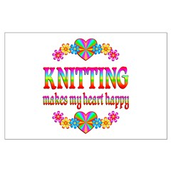 Knitting Happy Posters