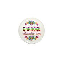 Karaoke Happy Mini Button (10 pack)