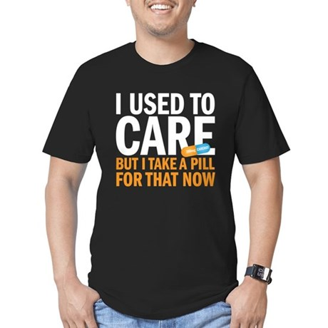 I used to care Men's Fitted T-Shirt (dark)