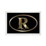 Gold R for Mitt Romney 2012 Rectangle Magnet (10 p