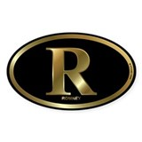 Gold R for Mitt Romney 2012 Decal