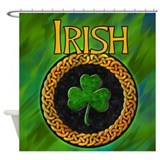 Celtic Irish Shamrock Shower Curtain