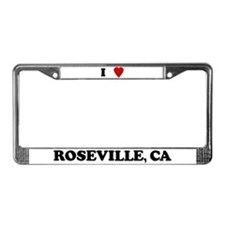 I Love Roseville License Plate Frame