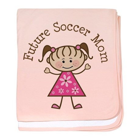 Future Soccer Mom Girl baby blanket