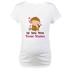 Personalized 1st Time Mom Monkey Shirt
