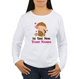 Personalized 1st Time Mom Monkey T-Shirt