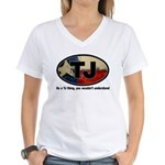 TJ THANG Women's V-Neck T-Shirt