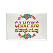 Camping Happy Rectangle Magnet
