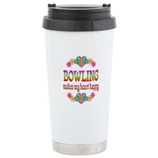 Bowling Happy Ceramic Travel Mug