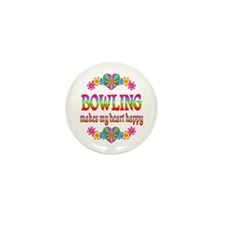 Bowling Happy Mini Button (10 pack)