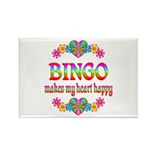 BINGO Happy Rectangle Magnet (10 pack)