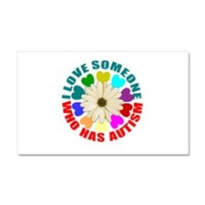 I love someone who has autism Car Magnet 20 x 12