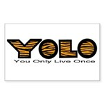 YOLO Tiger Sticker (Rectangle 10 pk)