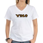 YOLO Tiger Women's V-Neck T-Shirt