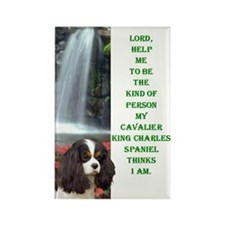 Funny Charles cavalier Rectangle Magnet