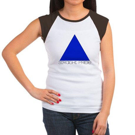 Straight Pride Streamline Log Women's Cap Sleeve T