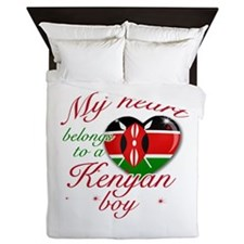 My heart belongs to a Kenyan boy Queen Duvet