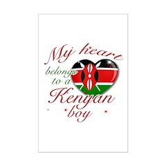 My heart belongs to a Kenyan boy Mini Poster Print