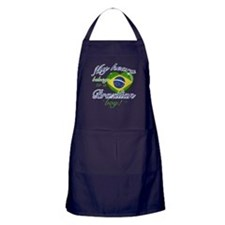 My heart belongs to a Brazilian boy Apron (dark)