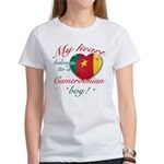 My heart belongs to a Cameroonian boy Women's T-Sh
