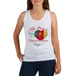 My heart belongs to a Cameroonian boy Women's Tank