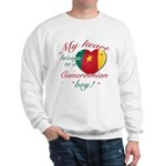 My heart belongs to a Cameroonian boy Sweatshirt